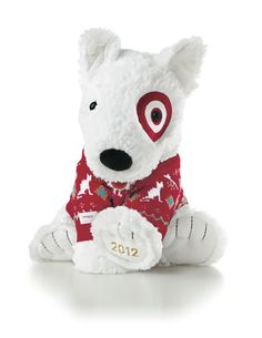 Bullseye the Dog. Get this Christmas present for kids this Christmas and by doing so you will be helping kids with cancer at St. Jude. Target will donate 100 percent of the purchase price from the Holiday Bullseye to the organization up to $750,000. #stjude #cancer @target