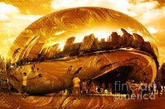 Buy Cloud Gate Monument Artwork - by Randi Grace Nilsberg