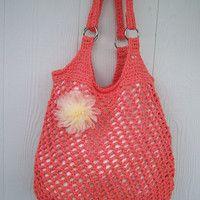 Love this crochet hobo bag!