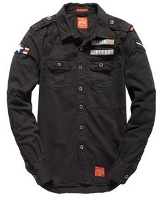Shop Superdry Mens Delta Shirt in Seals Navy. Buy now with free delivery from the Official Superdry Store. Rugged Style, Cargo Shirts, Men's Shirts, Military Style Shirts, Military Shirt, Military Fashion, Mens Fashion, Style Brut, Camisa Slim