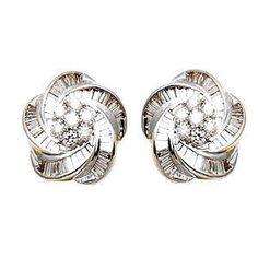 http://rubies.work/0118-ruby-rings/ Diamond Earrings Flower Design See more amazing jewelry at DiamondScape.net! #jewelry