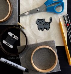 DIY | Framing a Cross Stitch in an Embroidery Hoop
