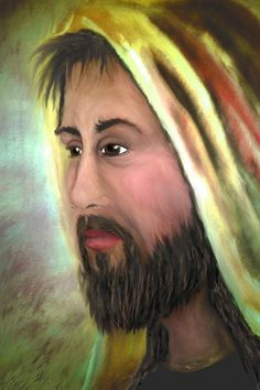 Jesus - portrait of Christian Lord and Savior~  Blank Cards only $4.95 Larger prints also available.