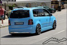 Matt blue VW Touran | Flickr - Photo Sharing!