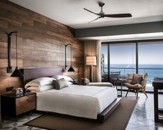 The Cape, a Thompson Hotel Cabo San Lucas, Mexico Balcony Bedroom Hip Modern Scenic views Suite Tropical Waterfront property living room home condominium