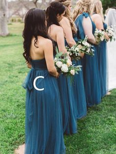 139cfc81680 Simple Sweet Heart Dark Teal Long Bridesmaid Dresses