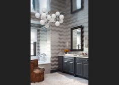 Jeff Andrews Design- this wallpaper & silver leaf ceiling is gorgeous