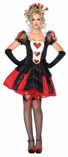 Sexy Dazzling Dark Queen of Hearts Costume - Mr. Costumes