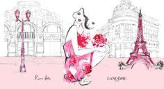 Kerrie Hess illustrations for Lancôme 80's anniversary | LuxurY Talents Education