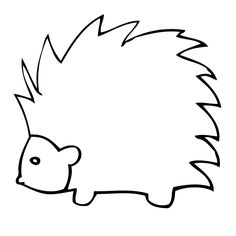 North American Porcupine Coloring page Color Animals