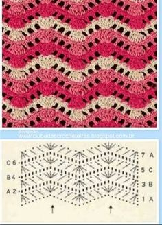 159 best zig zag crochet images on pinterest crochet patterns resultado de imagen para ponto zig zag croche ccuart Images