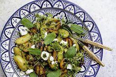 Potato Salad with Grilled Nectarine and Thai Pesto