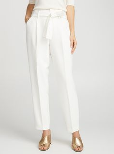 Techno crepe tie-waist pant | Contemporaine | Shop Women's Work Pants| Simons