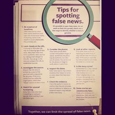 Informative on how not to fall for clickbaits nor false news. You don't need a diploma/degree/Masters/PhD in journalism or mass media communications to filter truth from lies. You just need integrity and to trust your instincts. 👀🤳🕵🏻‍♀️#infographic #clickbait #falsenews #manipulation #propaganda #facts #stayrelevant #staywoke #begenuine #betruetoyourself #bevigilant  #doyourresearch #questioneverything #dontbenaive #dontbelievethehype #dontbelieveeverythingyouread…