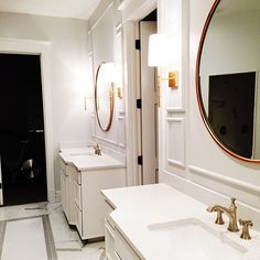 A bathroom remodel fit for a queen. We can't wait to share it with you! #theriversidehouse