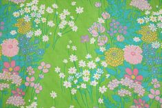 Wildflower 60's Fabric by honeypot on Etsy