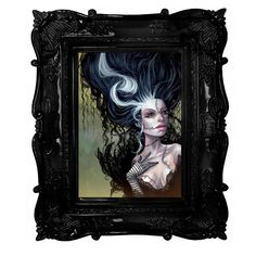 Kurtis Rykovich, Image of Bride of Frankenstein - Fine Art Print. Bride of Frankenstein- by Kurtis Rykovich.  giclee print of an original oil painting.
