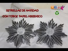 ESTRELLAS PARA EL ARBOL CON TUBOS DE PAPEL HIGIENICO - YouTube