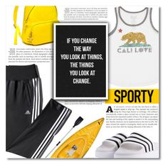 """""""Go Sporty!"""" by dolly-valkyrie ❤ liked on Polyvore featuring adidas, adidas Originals, Billabong, Tommy Hilfiger, Emsco, Chanel, sporty, sportystyle and gosporty"""
