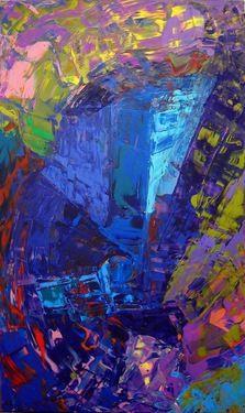"Saatchi Art Artist Oleg Filin; Painting, ""Skyscrapers (reflection)"" #art"