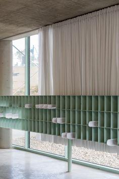 Bruther - Residence for Researchers, Maison Julie-Victoire Daubié, Paris, FR Dark Interiors, Shop Interiors, Office Interiors, Colorful Interiors, Bruther Architecture, Home Interior, Interior And Exterior, Küchen Design, House Design