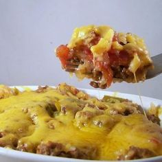 Unstuffed pepper casserole --- i've made this before and we love it!! and easier than finding and preparing all the peppers to stuff, and great for potlucks :)