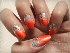 Ida-Marian kynnet / Orange autumn nails / #Nails #Nailart