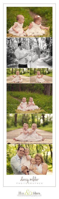 twins 1 year old portraits | iowa baby family child photographer | Darcy Milder | His & Hers