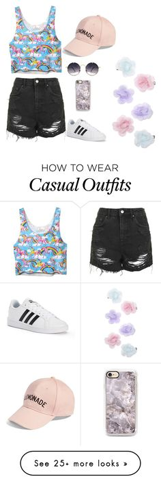 """""""Casual Day Out"""" by karina-xoxo on Polyvore featuring Topshop, adidas, Amici Accessories, Spitfire and Monsoon"""