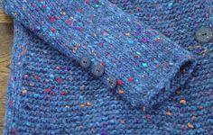 """Купить Пальто """"Aurora"""" - вязаное пальто, вязаный кардиган, пальто спицами, синее пальто"""