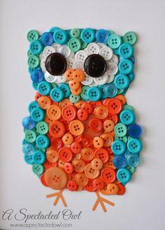 DIY Owl Button Craft