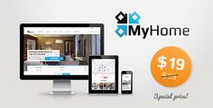 Buy MyHome Real Estate WordPress by TangibleDesign on ThemeForest. Real Estate WordPress Theme MyHome is a premium Real Estate WordPress theme that you can use to create amazing and i. Computer Theme, Photography Themes, Real Estate Business, Building A Website, Website Themes, Premium Wordpress Themes, Business Website, Website Template, Templates