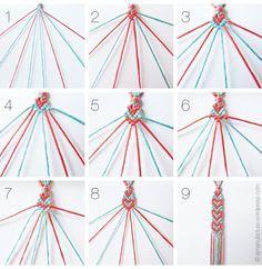 Goedkope knutsel tip van Speelgoedbank Amsterdam voor ouders en kinderen. Goedkoop knutselen met wol: vriendschapsbandje vlechten voor gevorderden.