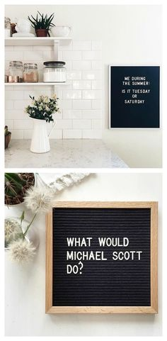 The most versatile and minimalist decoration for your home - felt letter board. Totally in love with and all of the fun boards they create! Inspirational and funny letter board quotes. The Letter Tribe Word Board, Quote Board, Message Board, Felt Letter Board, Felt Letters, Felt Boards, Sign Quotes, Funny Quotes, Light Box Quotes Funny