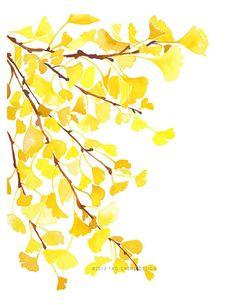 Yellow Ginkgo- Watercolor Art Print