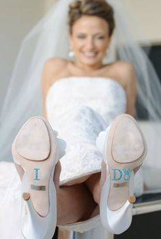 Wedding I DO Crystal Shoe Stickers in Blue with Diamond Wedding Ring for your Bridal Shoes op Etsy, $9.70