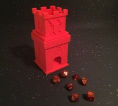 Dice Tower Roller 2 story Castle Staircase (2 Parts 3D Printed) Board Games   #HomeMade