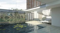 studio twist balances family and social life in shanghai garden villa Garden Villa, Large Homes, Architectural Digest, Shanghai, Interior Architecture, Garden Design, Modern Design, Contemporary, Landscape