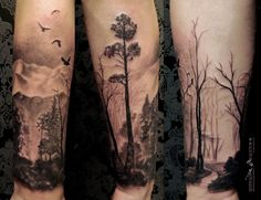 landscape forearm tattoo - Google Search