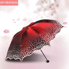 Barato 2016 nova Ewha marca cores UV praia guarda chuva dobrado adulto lace sun parasol umbrella Ensolarado umbrella chuva mulheres frete grátis, Compro Qualidade Guarda-chuvas diretamente de fornecedores da China:      parâmetros do produto:   guarda-chuva de espécies: ensolarado guarda-chuva   marca: Paraíso   Número do produto: mj
