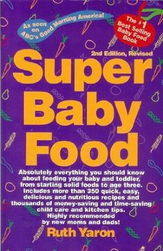 I know the author and her twin boys who go to my parents' old church. This book not only helped me give my first baby the nutrition he needed, but also helped me understand my own nutritional needs. VERY informative and the monthly guides by baby age are fantastic, as well as the food index in the back.