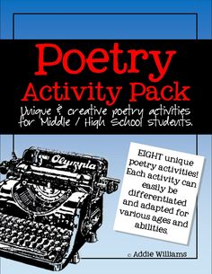 Poetry  Activity Pack - unique and creative activities to help your students understand and write poetry. ($)