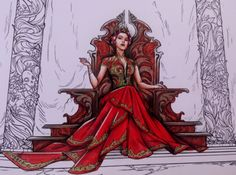 Image result for acotar coloring book amarantha