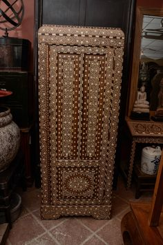 Anglo Inlaid Armoire | From a unique collection of antique and modern wardrobes and armoires at https://www.1stdibs.com/furniture/storage-case-pieces/wardrobes-armoires/