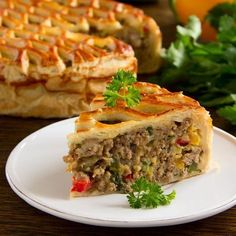 Vegetable pie and minced meat - Cuisine - Meat Recipes, Mexican Food Recipes, Cooking Recipes, Mexican Meat, Tunisian Food, Vegetable Pie, Cooking Time, Love Food, Food Porn