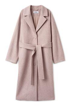 Weekday - Vivi coat in orange reddish light.  Relaxed shape with long raglan sleeves & concealed side pockets.  £110