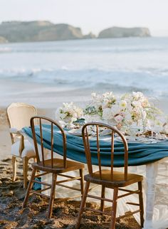 Elegant Beach Wedding Inspiration  Read more - http://www.stylemepretty.com/2014/03/11/elegant-beach-wedding-inspiration/
