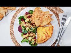 Tuesday - Beetroot and Lentil Salad with Quiche and Parmesan Crispbreads Lentil Salad, Baby Spinach, Beetroot, Tray Bakes, Lentils, Parmesan, Quiche, Mustard, Crisp