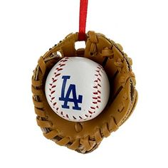 Los Angeles Dodgers Ball and Glove Christmas Ornament * Check out the image by visiting the link.