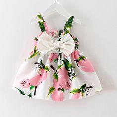 Baby Dress Infant girl dresses Lemon Print Baby Girls Clothes Slip Dress Princess Birthday Dress for Baby Girl